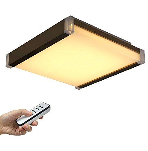Stylehome LED Deckenlampe Wandlampe braun volldimmen mit Fernbedienung SH-I502B-50W