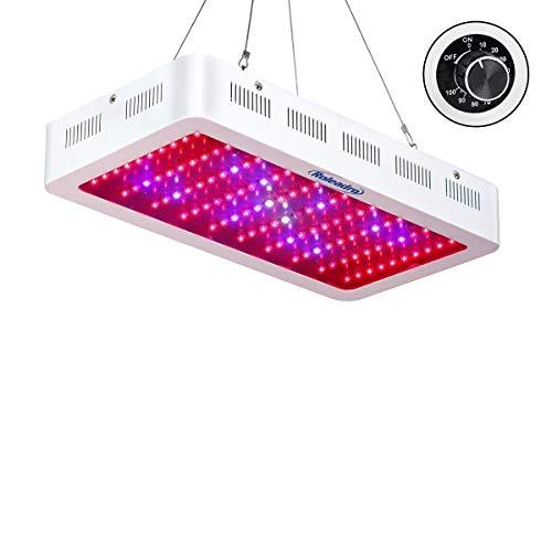 Roleadro 300W LED Pflanzenlampe Dimmbare Grow LED Lampe Pflanzenleuchte Vollspektrum LED Wachstumslampe mit UV IR Licht für Pflanzen Wachstum Blühend
