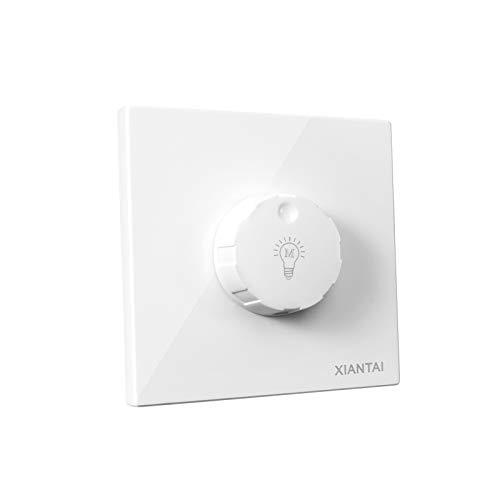 ETiME LED Dimmer 85-265V AC bis 300W Dimmschalter Drehdimmer Stufenloser Helligkeitsregler für die meisten dimmbar LED- und Halogen-Lampen auch für herkömmliche Leuchtmittel Dimmer