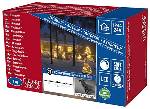Konstsmide 4806-007 LED Hightech SystemDimmer  für Außen IP44  schwarzes Kabel