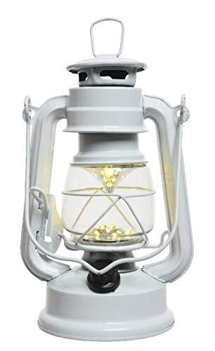 LED Sturmlaterne weiß mit Dimmer Campingleuchte 35cm hoch