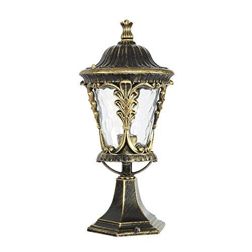 Bronze Outdoor Garten IP55 bewertet Poller Lampe Post Licht 1-Light Outdoor Laterne Aluminium Lampenkörper mit Glas Lampenschirm E27