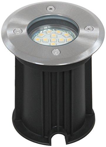 Ranex 5000461 LED Bodeneinbaustrahler für Außen rund befahrbar bis zu 800 kg belastbar einbau Durchmesser 92 cm