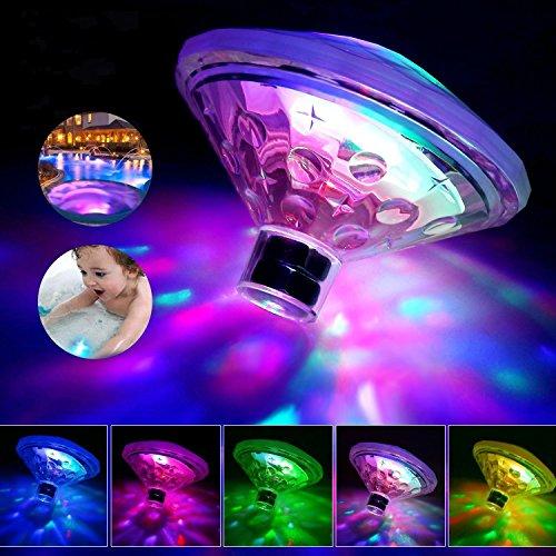 GUANMING Licht Badewanne Unterwasser Licht mit RGB und 7 ModiPool Lichter LED Pool Teich LED Beleuchtung 7 Modi