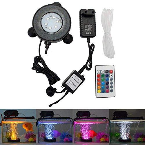 GreenSun LED Lighting Aquarium Licht 3W Unterwasserlicht 6 Leds Unterwasserleuchte RGB Spot Lampe Aquarium LED Beleuchtung Aquariumbeleuchtung