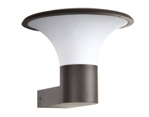 Trio Leuchten LED Außen-Wandleuchte Aluminiumguss inklusiv 1 x E27 4 W Höhe 22 cm ø 27 cm anthrazit 220160142