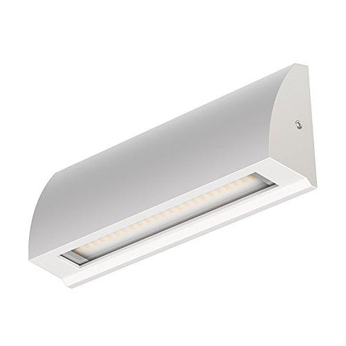 ledscomde LED Wand-Leuchte Segin Treppenlicht für innen und außen flach aufbau warm-weiß 400lm