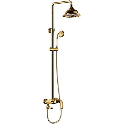 Dusche Wasserhahn ZQG Europäischen Kupfer Dusche Set Runde Auslauf Multifunktions Dusche Tippen