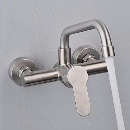 Edelstahl Wand-montiert Küche Spüle Wasserhahn Drehbar Balkon Wäsche Pool Waschbecken Wasserhahn