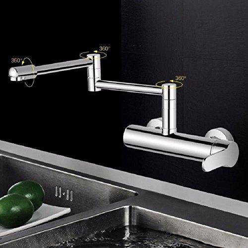 in-Wand Küche heiß und Kalt Spüle Wasserhahn Waschbecken Spüle Kann Gedreht Werden gestreckt und Gefalteten Dicken Wasserhahn