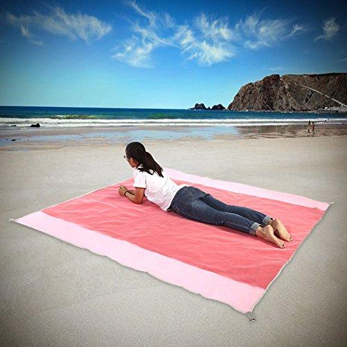 Alomejor Sand Frei Strandmatte Ohne Wasserdicht Outdoor Camping Matratze Picknick Kissen Rose