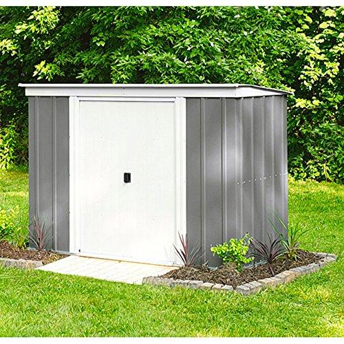 Arrow Metall-Gerätehaus PT 104 Gartenhaus Schuppen 341 m² grau