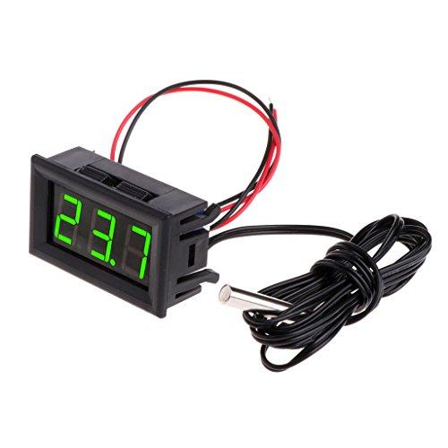 Guoyy 50~110 ° C DC 12v Digital LED Thermometer Fahrzeug Temperaturüberwachungsgerät Green
