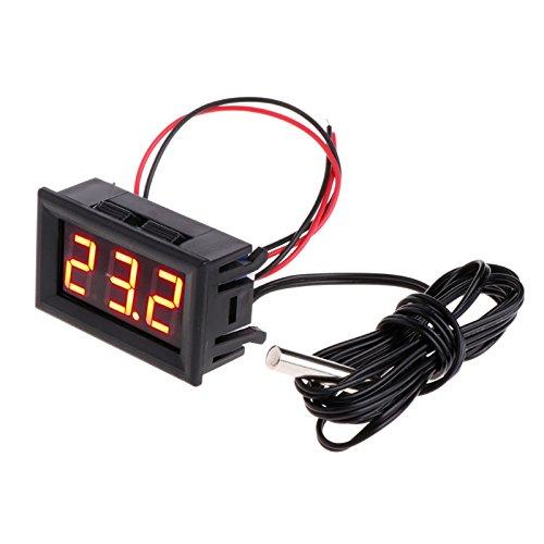 Lamdoo -50~110 ° c Digital LED Thermometer DC 5-12 V Auto Temperaturanzeige Meter rot