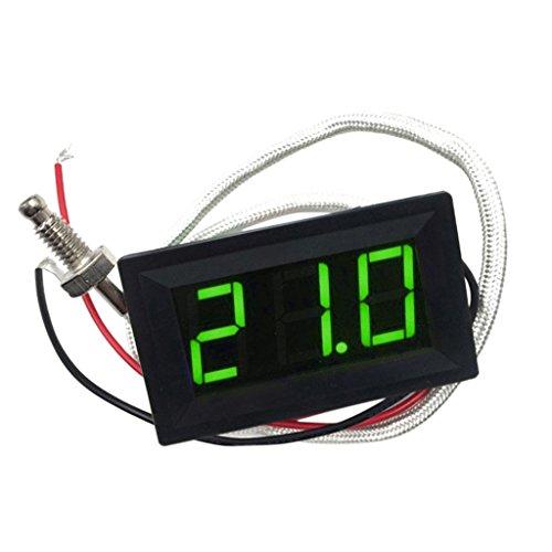 Sharplace Digital-Thermometer -30-800 ℃ roteblauegrüne LED-Temperaturanzeige-Panel Temp Messen - Grün