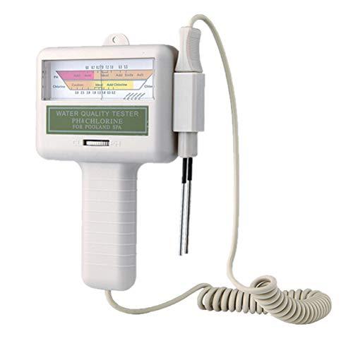 Uni-Wert Wassertester Wasserqualitätstest PH Chlor Pool Wasser PH Tester Chlormessgerät Messgerät für Pool Teich Aquarium Schwimmbad Typ1