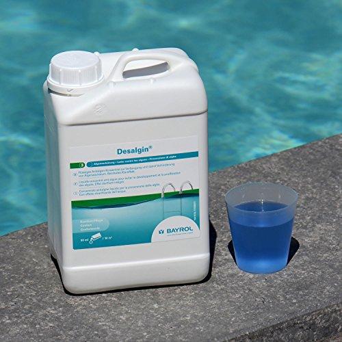 BAYROL Desalgin - Flüssiges Algizid - Hochkonzentriert ohne Chlor und mit Klareffekt - Verhindert Algenwachstum im Pool - 3 L