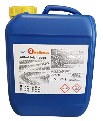 well2wellness Chlorbleichlauge stabilisiertChlor flüssig Natriumhypochlorit 60 kg