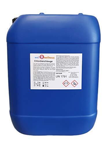 well2wellness Natriumhypochlorit stabilisiertChlorbleichlauge stabilisiertPool Chlor flüssig 25kg