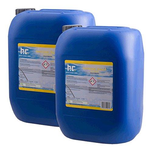 Höfer Chemie 2 x 28 kg pH Heber flüssig ORIGINAL für Einen optimalen pH Wert und einwandfreie Wasserqualität im Pool