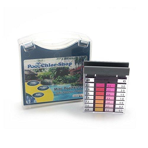 Premium Mini-Pooltester Chlor und pH im Koffer