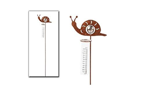 Geschenk-Himmel Regenmesser Schnecke Metall L 90 cm Gartenstecker Dekostecker