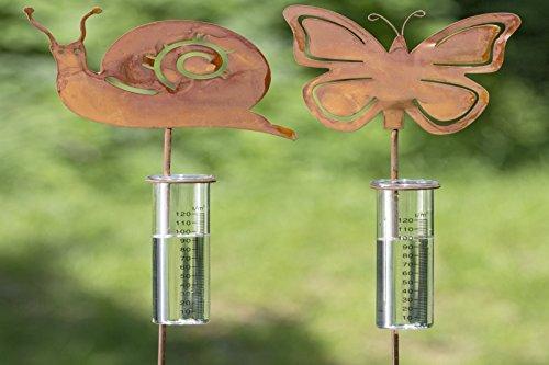 Niederschlagsmesser Regenmesser Metall Schmettling Schnecke Stückpreis