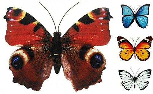 Coen Bakker Schmetterling Metall Wand Deko Bunt Garten Wandschmuck Falter Schmetterlinge FarbeBraun Größe40 cm