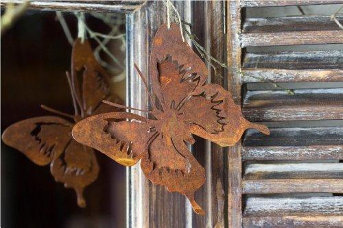 Schmetterling zum hängen Rost Deko