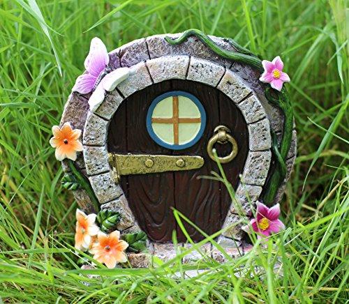 Große Tür Fairy Elf Pixie Garten Ornament Hobbit Schmetterling Blumen