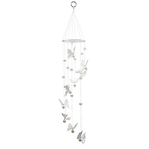Windspiel für den Garten spiralförmig mit Glocken und Schmetterlingen