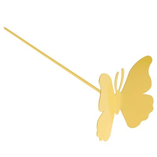 Homyl Gartenstecker Schmetterling Blumentopfstecker RotGrün  GelbBlau - Gelb 10cm