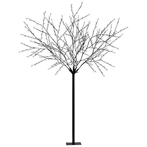 600 x LED Baum schwarz Außen Leuchte Garten Licht Deko Vorgarten Leuchtbaum Veranda Eglo 75033