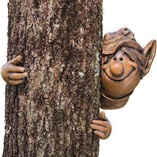 Garden Mile GARTEN ELF BAUM PEEKER NEUHEIT GARTEN DEKORATION DECORATION Neuheit LUSTIGES GESICHT ZAUN SCHUPPEN AUßEN Baum SKULPTUR