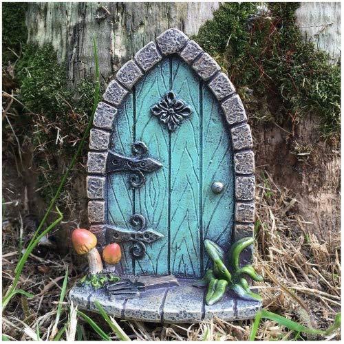Prezentscom Miniatur Pixie Elf Feentür – Baum Garten Dekoration – lustige lustige Geschenkidee – Höhe 9 cm