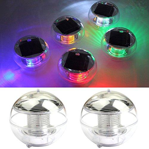 Solarleuchten Poolleuchte NORDSD 4 Stück Wasserdicht Solar LED Schwimmkugel Farbwechsel RGB Ball Lampe für den Garten BaumTeich Swimming Pool