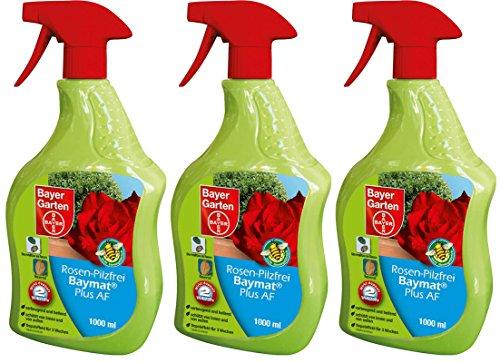 3 x 1 Liter Bayer Rosen-Pilzfrei Baymat Plus AF Anwendungsfertig