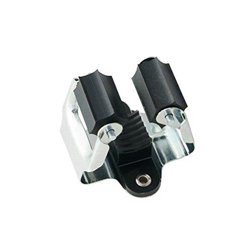 Prax Gerätehalter Durchmesser 35 mm silberschwarz 1 Stück 4013563035101