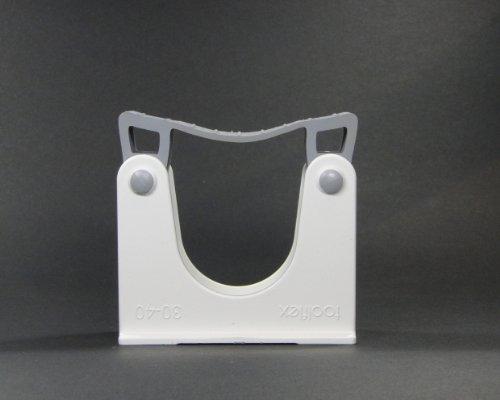 Toolflex Stielhalter Gerätehalter Gehhilfenhalter für Rohrdurchmesser 30-40mm Farbe weiss