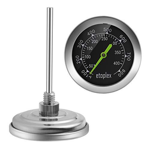 ETOPLEX 60040 BBQ Grillzubehör Thermometer für den Ofen Grill  Räucherofen  Grillwagen  Backen Bis zu 400 °C Grillthermometer