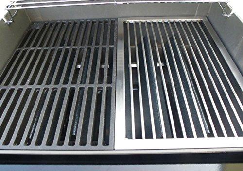 AKTIONA Edelstahl Grillrost  Griffefür Eine Hälfte für Weber Spirit E 210 ab 2013Regler Vorn