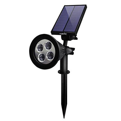 Naisidier 4 LEDs Solarleuchten Scheinwerfer der Sonnenenergie SolarLampe Außenwandleuchten Solarlandschaftsleuchten für Garten Gehweg Landschaftsbau Hof Rasen im Boden oder am Wand stecken wasserdic