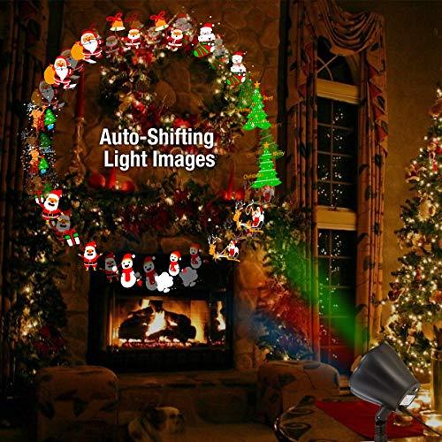 1byone Projektor Licht LED Projektionslampe für Weihnachten Dekoration led Stimmungslicht Dynamische Auto-Shifting Bilder schaltbar Muster OutdoorIndoor verwenden IP65 wasserdicht