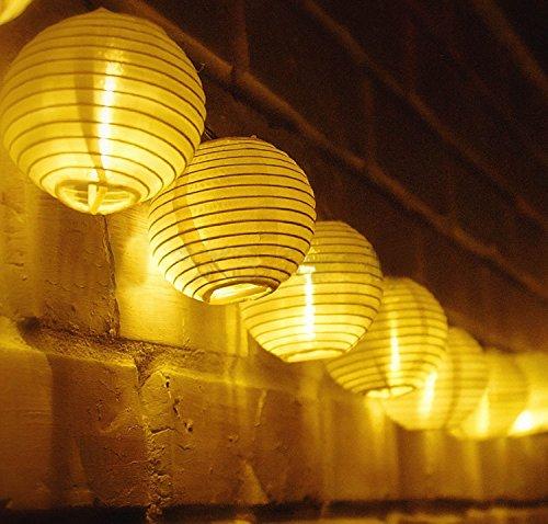 Samoleus Solar Outdoor Lichterkette 48 Meter 20 LEDs Lampions Laterne Solarbetrieben Lichterkette Wasserfest Weihnachten Dekoration für Garten Terrasse Hof Haus Weihnachtsbaum Feiern Warmweiß