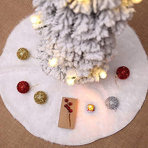 Siennaa Weihnachtsbaum Decke Weihnachtsbaum Rock Dekoration Weiß Plüsch Weihnachtsbaumdecke Weihnachtsbaum Röcke Weihnachtsschmuck Weihnachtsbaum Deko Weihnachtsdeko Plüsch90CM