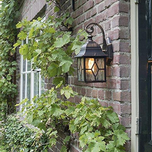 QAZQA KlassischAntikLandhausVintageRustikal Außenlaterne Londen Außen WandAußenbeleuchtung AluminiumGlas WürfelQuadratisch LED geeignet E27 Max 1 x 60 Watt