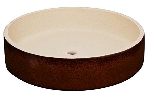 K&K Bonsaischale  Pflanzschale braun 24x6cm Volumen 1000 ml Outdoor geeignet Rand unglasiert aus schwerer Steinzeug-Keramik 5 Jahre Garantie