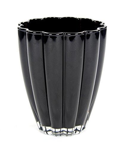 Orchideen-Topf aus Glas Bloom 14 x 17cm schwarz