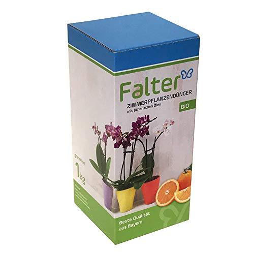 Falter Zimmerpflanzendünger - Bio-Langzeitdünger mit angenehmen Orangenaroma - perfekt als Orchideendünger für Bonsai Drachenbaum - Pflanzendünger - Blumendünger - Qualitätsprodukt aus Bayern - 1kg granuliert