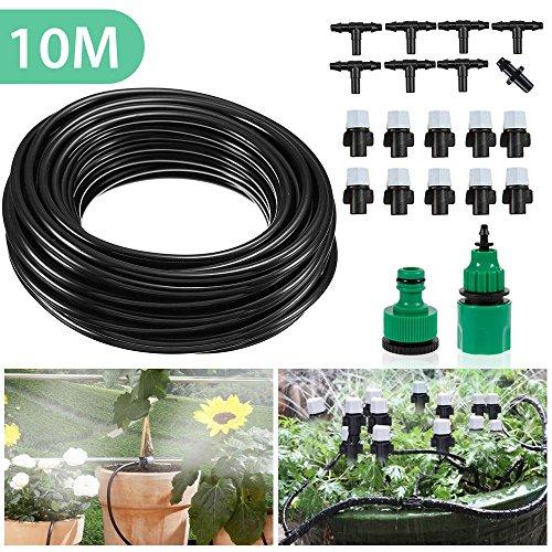 Mopalwin Auto Bewässerungssystem Bewässerung Kit Micro-Drip-System Garten automatische Sprinkler Tröpfchenbewässerung Gartenbewässerung für Garten Landschaft Flower Bed Terrasse Pflanzen - 10M